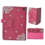 EVTECH (TM) 3D Handmade Bling Fall für LG G Pad 8.0 Smart-Shell Case - Ultra Slim Abdeckung mit Auto Sleep / Wake-Funktion für LG G Pad V480 8-Zoll-Android-Tablet