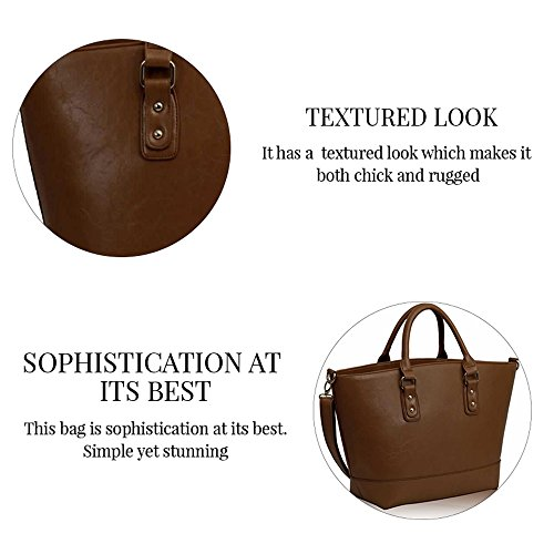 Trendstar Frauens Maxi Entwerfer Schulter Leder Taschen Stilvolle Shopper Handtaschen (X - Grau/Nude) Nude2