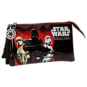Star Wars Rogue One Estuche Tres Compartimentos, Multicolor