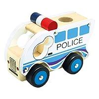 Bino 84082 Wooden Car Police, Multicolour