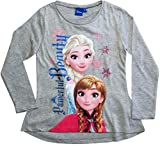 Frozen Langarmshirt Mädchen Anna und ELSA (Grau, 104)