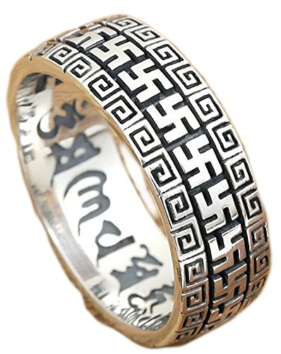 SaySure - Thai silver ring mantra words real 925 sterling (SIZE : 10)