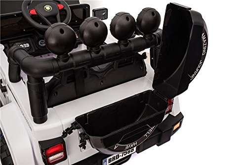 ff6e038814 Toyscar Auto Macchina Elettrica per Bambini Fuoristrada Bianca 12V MP3 LED  con Telecomando Full Optional Sedili in Pelle