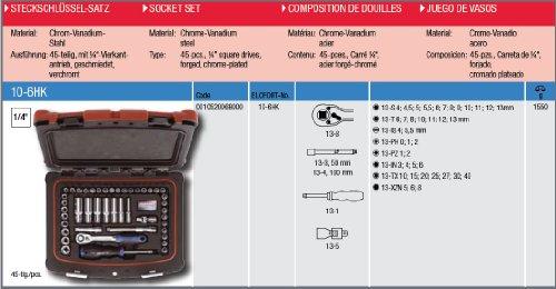 ELORA 10520068000 10-6 HK 6KANT-SATZ, 1/4″, Made in Germany