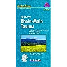 Bikeline Radkarte: Rhein-Main Taunus, Wiesbaden - Frankfurt/Main - Wetzlar - Limburg - Rheingau - Lahn, RK-HES04. 1 : 75.000, wasserfest/reißfest, GPS-tauglich mit UTM-Netz zum Download