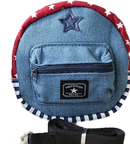 Geschirr Rucksack Jean verstellbar mit Leine Tasche Rucksack für Welpen kleine Hunde Staubsaugerbeutel Tragbare Haustiere Geschirr Praxis für Außen Kriech