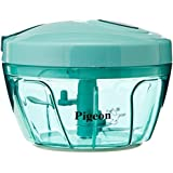 New Handy Plastic Chopper With 3 Blades, Green