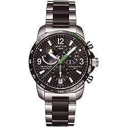 Certina - Reloj de Cuarzo para Hombre, correa de Acero inoxidable color Gris