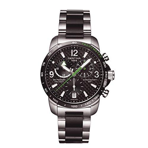 Certina Herren-Armbanduhr XL Chronograph Quarz Edelstahl C001.639.22.207.02