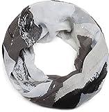 styleBREAKER Loop Schal mit Farbwisch Muster und Pailletten Faden, Schlauchschal, Tuch, Damen 01016162, Farbe:Schwarz-Grau-Beige