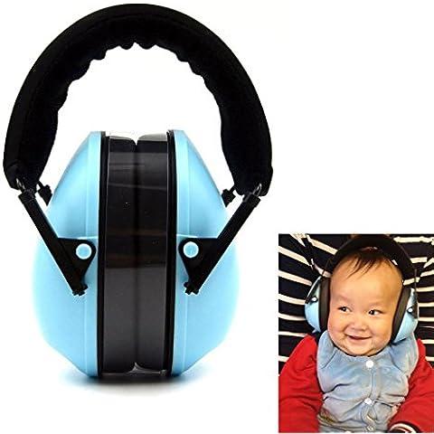 Bebé protección auditiva orejeras para 6meses a 12años de edad–cómodo y protección para los oídos de reducción de ruido para bebé infantil y niño, azul