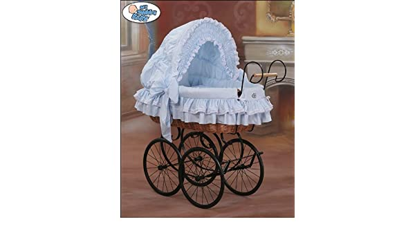 My sweet baby retro geflecht kinderbett moses korb blau : amazon.de
