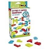 Smoby - 430102 - 72 Lettres et Chiffres Magnétiques - 24 Lettres Coloris Rouge - 24 Lettres Coloris Vert - 24 Chiffres et Signes Coloris Bleu