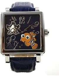 Disney Uhr Herrenuhr Automatikuhr Lederband Nemo Römisch Strass Cartoonuhr