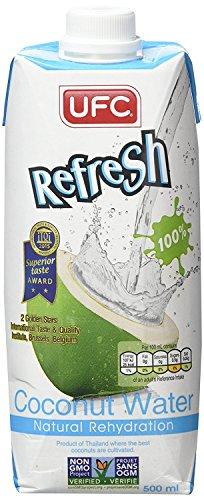 UFC Reines Kokoswasser 100% Pure Kokosnusswasser Thailand 500ml x12
