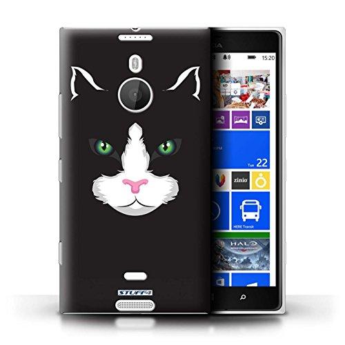 Kobalt® Imprimé Etui / Coque pour Nokia Lumia 1520 / Chat noir conception / Série Museaux Chat noir