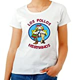 T-Shirt Femme Blanc T0941 Los Pollos Hermanos Fun Cool Geek