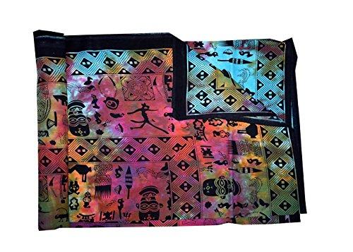 ala Wandbehang Hippie Tapisserie Bohemian Gypsy Tagesdecke, traditionelle indische Bettlaken, 100 % Baumwolle, Tribal Tye Dye, 84 X 90 Inches (Tye-dye-bettwäsche Queen)