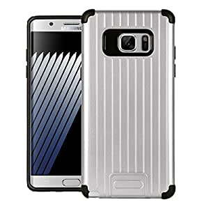 Jacket Galaxy Note 7 Case, Double Protect Heavy Duty Case Cases Hard Covers Back Case Cover For Samsung Galaxy Note 7 - Silver