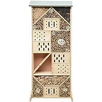 Gardigo Insektenhotel XXXL | Insektenhaus 120 cm groß aus Holz | Nistkasten für Bienen, Florfliegen, Marienkäfer und Schmetterlinge | Gefüllt mit Naturmaterialien wie Bambus