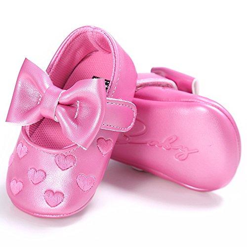 Bébé Fille Chaussures en Cuir, Chaussures Bébé Mary Jane Rose