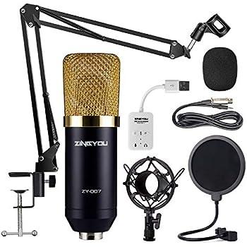 usb streaming podcast pc microphone sudotack professional 96khz 24bit studio cardioid condenser. Black Bedroom Furniture Sets. Home Design Ideas