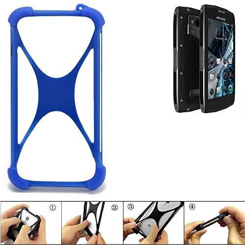 K-S-Trade Handyhülle für Archos Sense 50 X Silikon Schutz Hülle Cover Case Bumper Silikoncase TPU Softcase Schutzhülle Smartphone Stoßschutz, blau (1x)