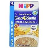 Hipp Gute Nacht Bio-Milchbrei Banane Zwieback, 500 g