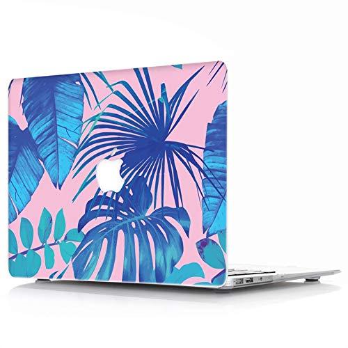MacBook Air 13 Hülle Modell: A1369 / A1466 - L2W Schutzhülle, Soft-Touch-Kunststoff-Gummi beschichtet Shell Cover für MacBook Air 13 - Tropical Palms Blätter 07 Soft-touch-gummi