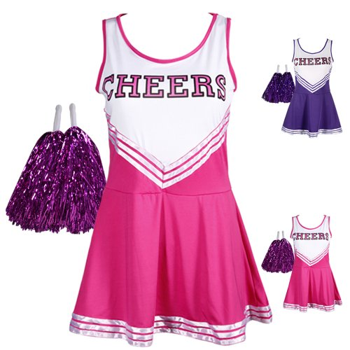 CWLN004a Pink COLLEGE SPORTS High School Cheerleader Ladies Girls Fancy Dress Costume Outfit Size M by hotsellnow4 (Pink Lady Kids Kostüme)
