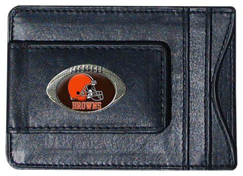 NFL Cuir Pince à billets porte-carte, femme Homme, Cleveland Browns
