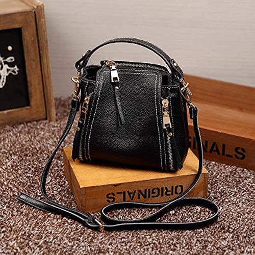 Lrxhgod borsa a mano in pelle borsa a tracolla portatile a spalla singola borsa a secchiello mini elegante e semplice