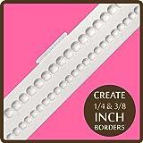 Frise pour décoration de Cupcake Fondant Décoration moule: Assiette creuse-Perle-bordures