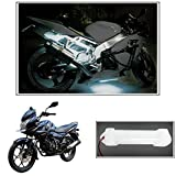 #9: Vheelocityin 10cm Neon Bike Light White - 1pc For Bajaj New Discover 150F