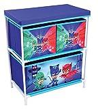 FUN HOUSE 712933Scaffale 3Scomparti per Bambino, PP/Cartone/Armatura/Plastica, Blu, 60,5x 30,5x 66cm