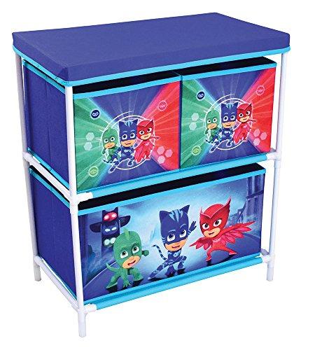 FUN HOUSE 712933 Etagère 3 casiers pour Enfant PP/Carton/Armature/Plastique, Bleu, 60,5 x 30,5 x 66 cm