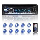 Autoradio, BETECK Auto Radio Bluetooth Freisprecheinrichtung 7 Farben LCD-Bildschirm, USB/ MP3/ WMA/FM/TF-Media-Player, Drahtlose Fernbedienung Enthalten