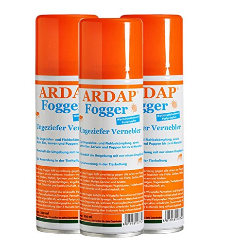 3 x 200 ml Ardap FOGGER Das ORIGINAL! Ungeziefer Vernebler gegen Insekten/ Flöhe