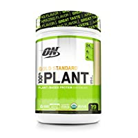 Optimum Nutrition Gold Standard 100% Plant Based Vegan Protein Powder, Vanilla, 19 Servings, 684g
