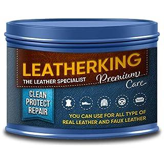 LeatherKing - Natürliche Anti-Aging Lederpflege, 350ml | Lederbalsam für Auto, Lederjacke, Handtaschen, Ledercouch, Schuhe, Pferde Sattel und vieles mehr - Premium Lederfett (1 Dose)