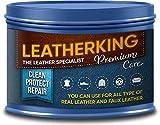 LeatherKing - Natürliche Anti-Aging Lederpflege, 350ml | Lederbalsam für Auto, Lederjacke,...