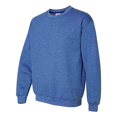 Gildan Heavy Blend Unisex Sweatshirt mit Rundhalsausschnitt (L) (Königsblau meliert)