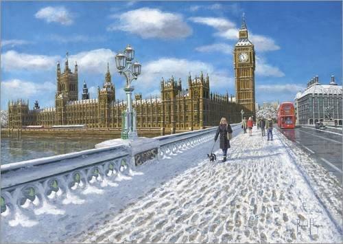 Poster 130 x 90 cm: Häuser des Parlaments in London von Richard Harpum/MGL Licensing - hochwertiger Kunstdruck, Kunstposter
