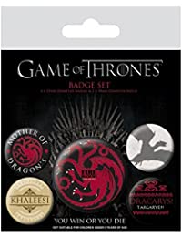 Game Of Thrones Badge Pack targaryen Fire And Blood Nue offiziell 5 X button