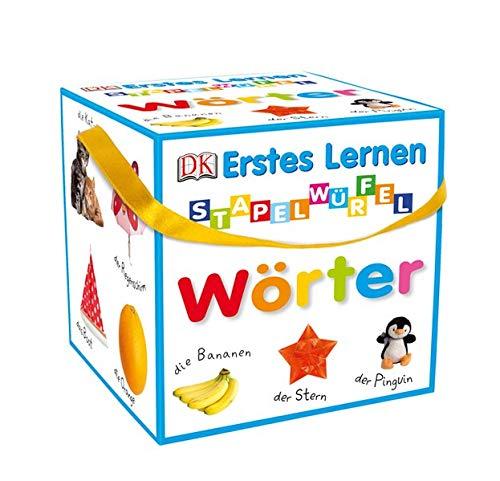 Erstes Lernen - Stapelwürfel Wörter: 10 stabile Karton-Würfel mit tollen Fotos zum Spielen, Entdecken und Benennen - Kinder Spielzeug Stapeln