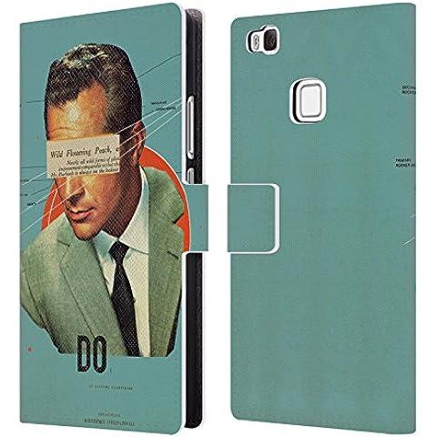 Ufficiale Frank Moth Fare Ritratto Cover a portafoglio in pelle per Huawei P9 lite / G9 Lite