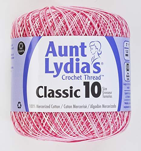 Crochet coton-nuances de tante Lydia de rose