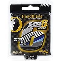 HeadBlade - Cuchillas de Rasurado 4 Piezas - 6x Cuchillas