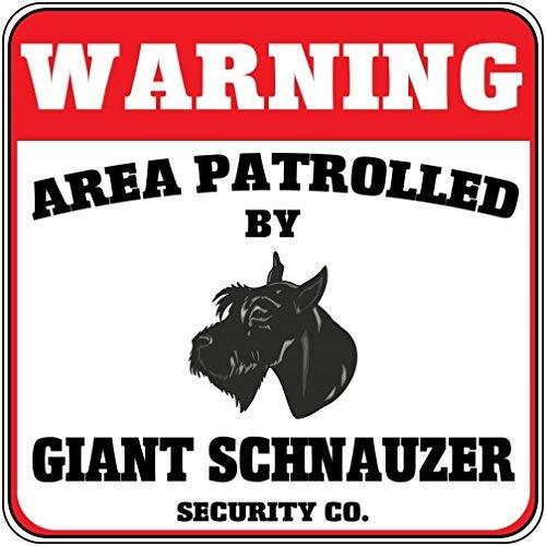 Kreuzung Ein Licht (Monsety Metallschild mit Aufschrift Post Warning Area Patrold Riesenschnauzer Hund Sicherheit Kreuzung Aluminium Wanddekoration)