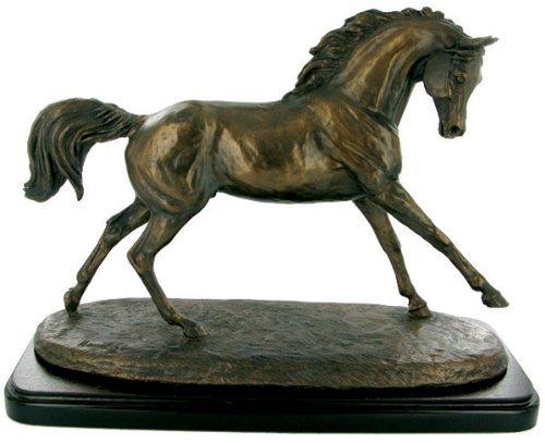Harriet Glen, kalt gegossen, Bronze/Kunstharz, Pferd 'CANTERING ARABIAN'Skulptur/Statue/Ornament. schönes Geschenk -